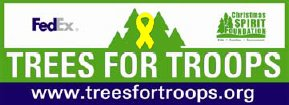 Proud Suporter of Trees for Troops Program